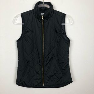 Old Navy Black Quilted Vest Size XS